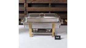 Image of a Chafer 8 Qt. Full Size Gold Accent Chafer