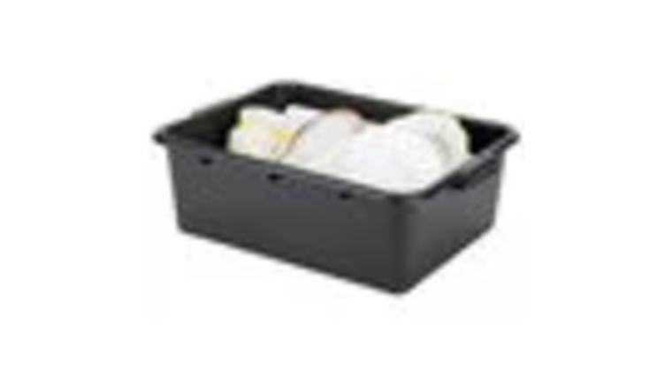 """Picture of a 20"""" x 15"""" x 7"""" Black Dishes Tub, Box"""
