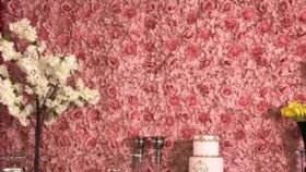 Image of a Blush Flower Wall
