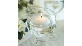 "Image of a 3"" White Disc Unscented Floating Candles"