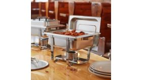Image of a 4 Qt. Half Size Stainless Steel Chafer
