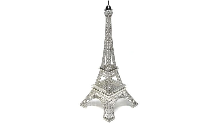 "Picture of a 15"" Eiffel Tower Statue Decor Alloy Metal, Silver"