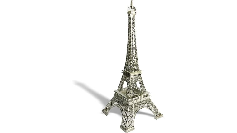 """Picture of a 24"""" Eiffel Tower Statue Decor Alloy Metal, Silver"""