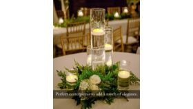 Image of a 3 Inch Flame-less Floating Candles, White Wax, Battery Flickering Waterproof Tealights - Wedding Centerpiece,