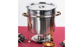 Image of a 11 Qt. Deluxe Gold Accent Soup Chafer