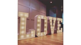 Image of a LOVE Marquee Letter Lights