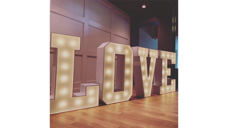 Picture of a LOVE Marquee Letter Lights
