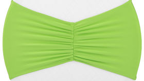 Image of a Apple Green Ruffled Spandex Chair Band Chair Covers