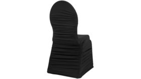 Image of a Black Ruched Spandex Chair Covers