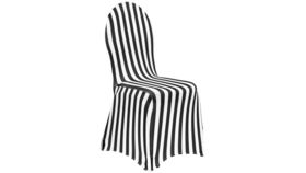 Image of a Black & White Striped Spandex Banquet Chair Covers