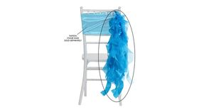 Image of a Aqua Blue Curly Willow Ribbons & Sashes