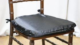 Image of a Black Chiavari Envelope/Cushion