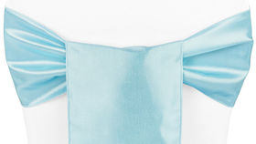Image of a Baby Blue Taffeta Ribbons & Sashes