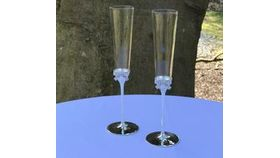 Image of a Designer Ribbon Champagne Flute Set