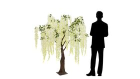 Image of a 5FT FLOWING WISTERIA TREE W/ LEAVES