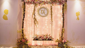 Image of a Swing W/ Flowers Decoration