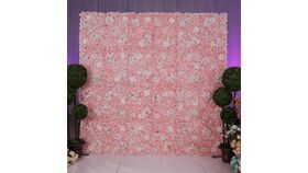 Image of a BLUSH & IVORY MIXED BLUSH FLORAL BACKDROP 8'X8'