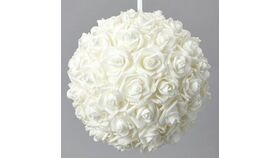 Image of a Ivory Flowers Balls 20""