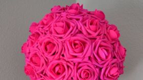 Image of a Fuchsia Flowers Balls 20""