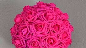 Image of a Fuchsia Flowers Balls 16""