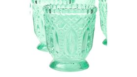 """Image of a Glass Candle Holders Mint 3"""" H With Battery LED Tealight Candle"""