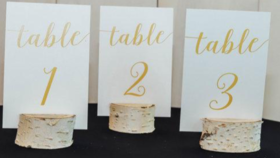 Image of a Gold Table Numbers