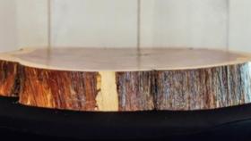 Image of a Cedar Wood Cake Display