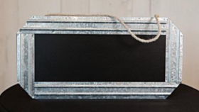 Image of a Chalk Board Sign with Jute Rope