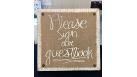 Image of a Guestbook Signage