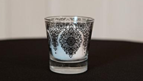 Image of a Black and White Votives