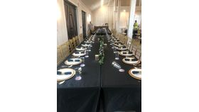 Image of a 6 Ft Black Tablecloth