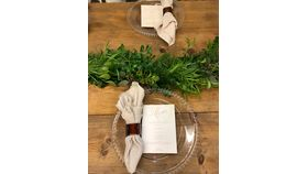Image of a 8ft Natural Wood Farm Table