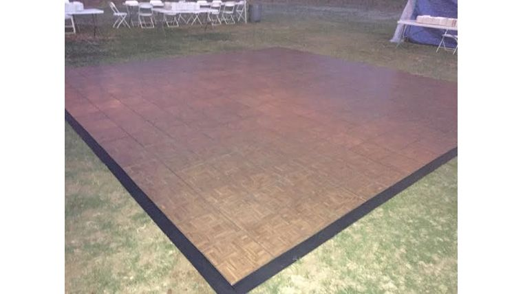 Picture of a 12 x 12 Teak Wood Vinyl Dance Floor