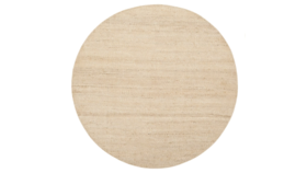 Image of a 6' Round Woven Jute Rug