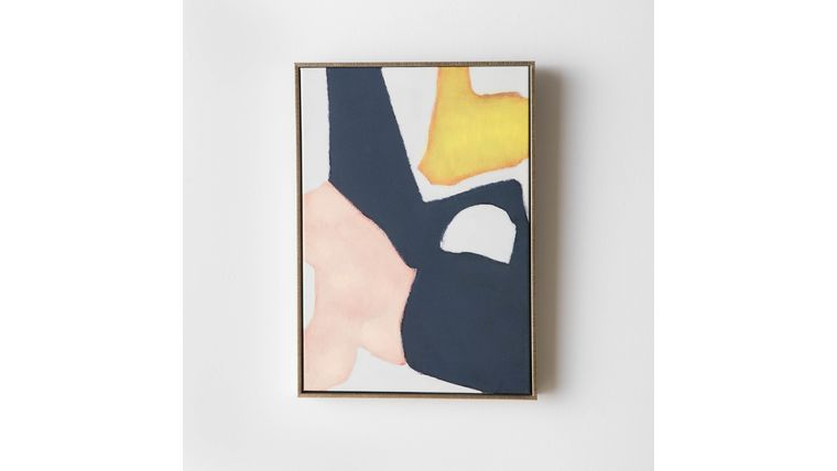 Picture of a Abstract Painting with Gold Frame