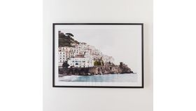 Image of a Amalfi Coast Print in Black Frame