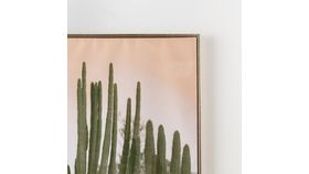 Brass Framed Cactus Painting image