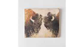Image of a Buffalo Oil Painting