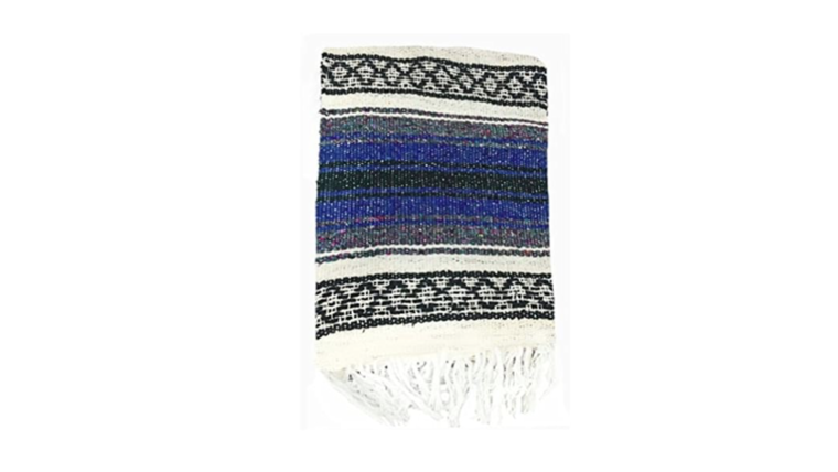 Picture of a Blue Mexican Blankets