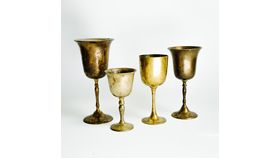 Image of a Assorted Brass Goblets