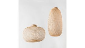 Image of a Expandable Bamboo Pendant Light