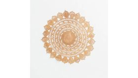 Image of a 3' Round Flower Jute Rug #2