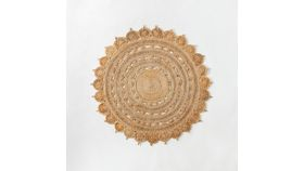 Image of a 5' Round Flower Jute Rug