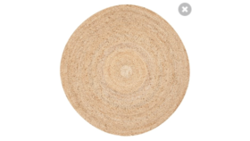 Image of a 5' Round Jute Rug