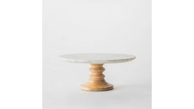 "Image of a 12"" Marble Top Cakestand"