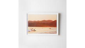 Image of a Framed Surfer Sunset Print