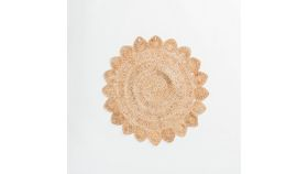 Image of a 3' Round Flower Jute Rug #4