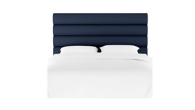 Image of a Navy Channel Headboard - King
