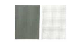 Image of a Green Check Kitchen Towels, set of 2