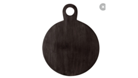 Image of a Black Wooden Round Cutting Board